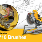 How to Replace the Brushes in a Dewalt DW718 Miter Saw