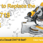 How to Replace the Belt on a DeWalt DW718 Miter Saw (153555-00)